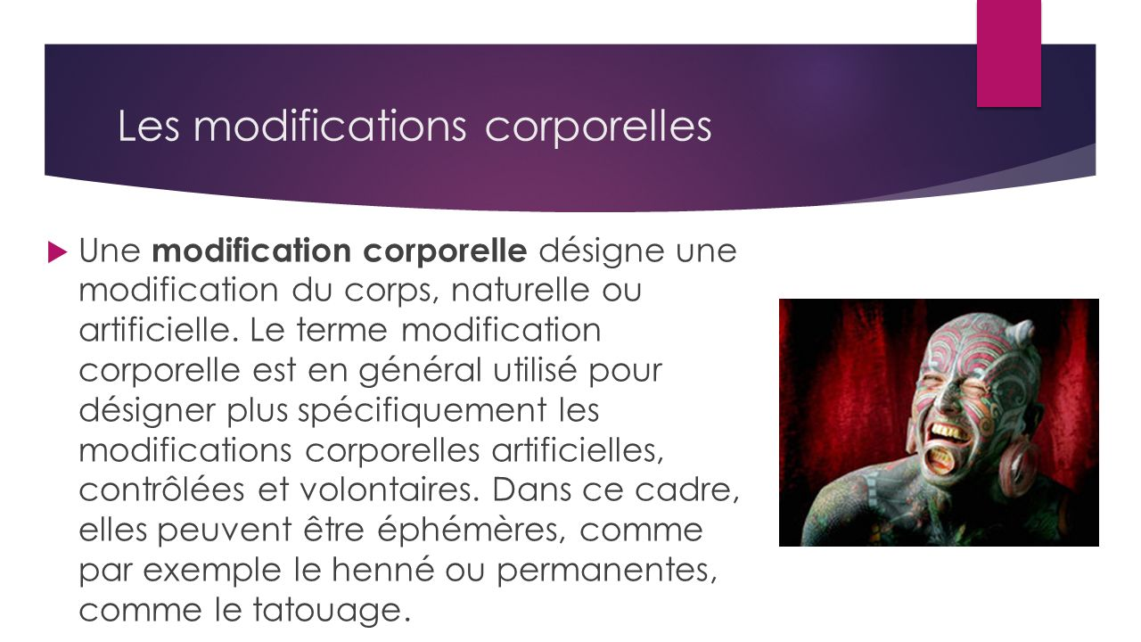 Les modifications corporelles