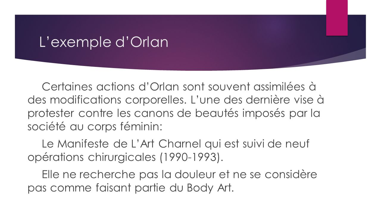 L'exemple d'Orlan