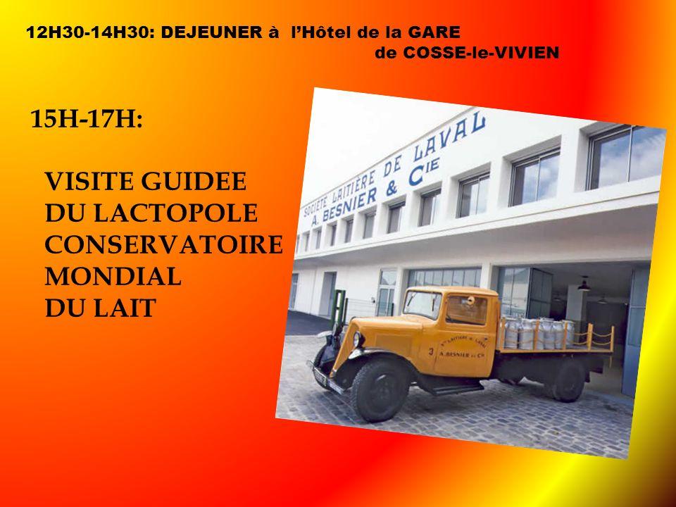 15H-17H: VISITE GUIDEE DU LACTOPOLE CONSERVATOIRE MONDIAL DU LAIT