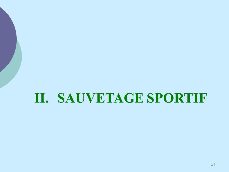 II. SAUVETAGE SPORTIF