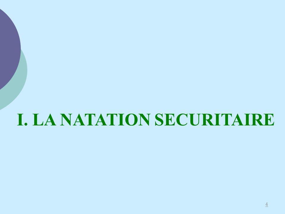 I. LA NATATION SECURITAIRE