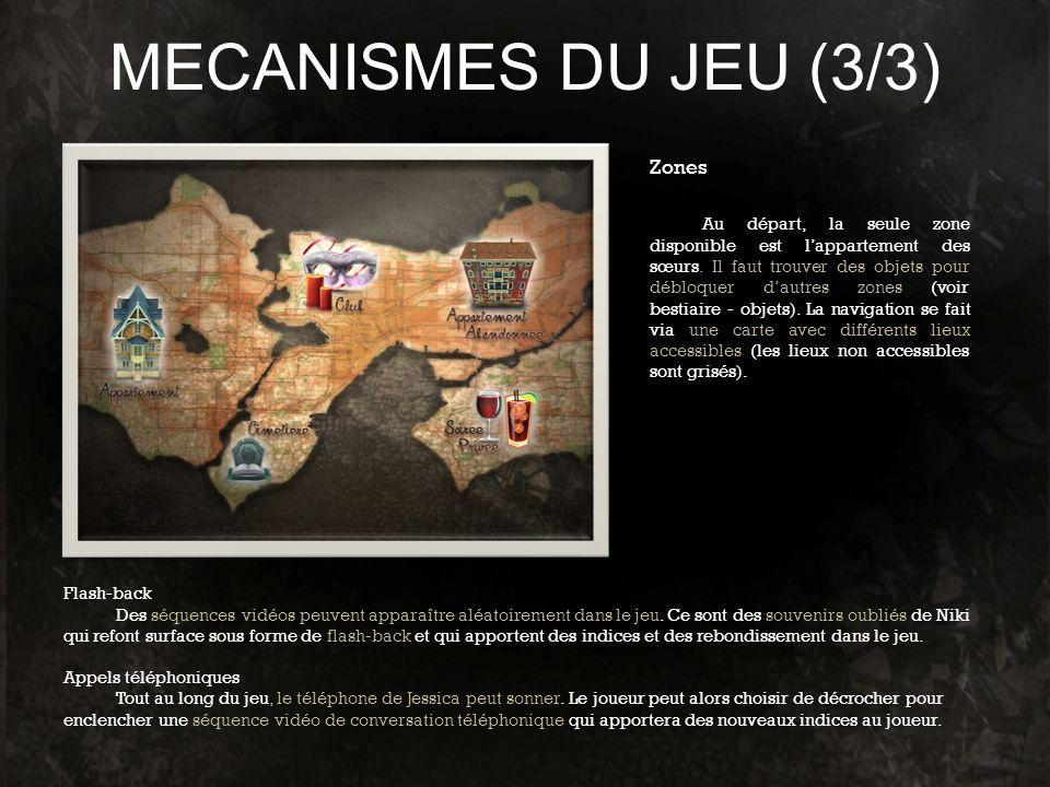 MECANISMES DU JEU (3/3) Zones
