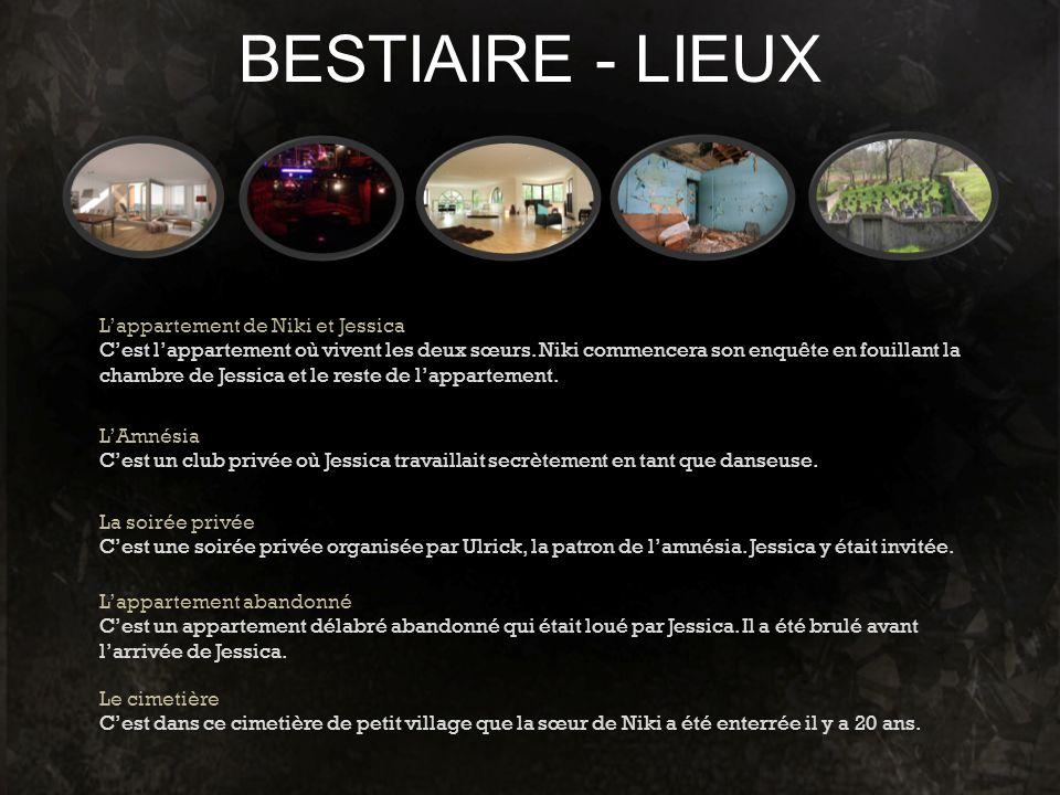 BESTIAIRE - LIEUX L'appartement de Niki et Jessica