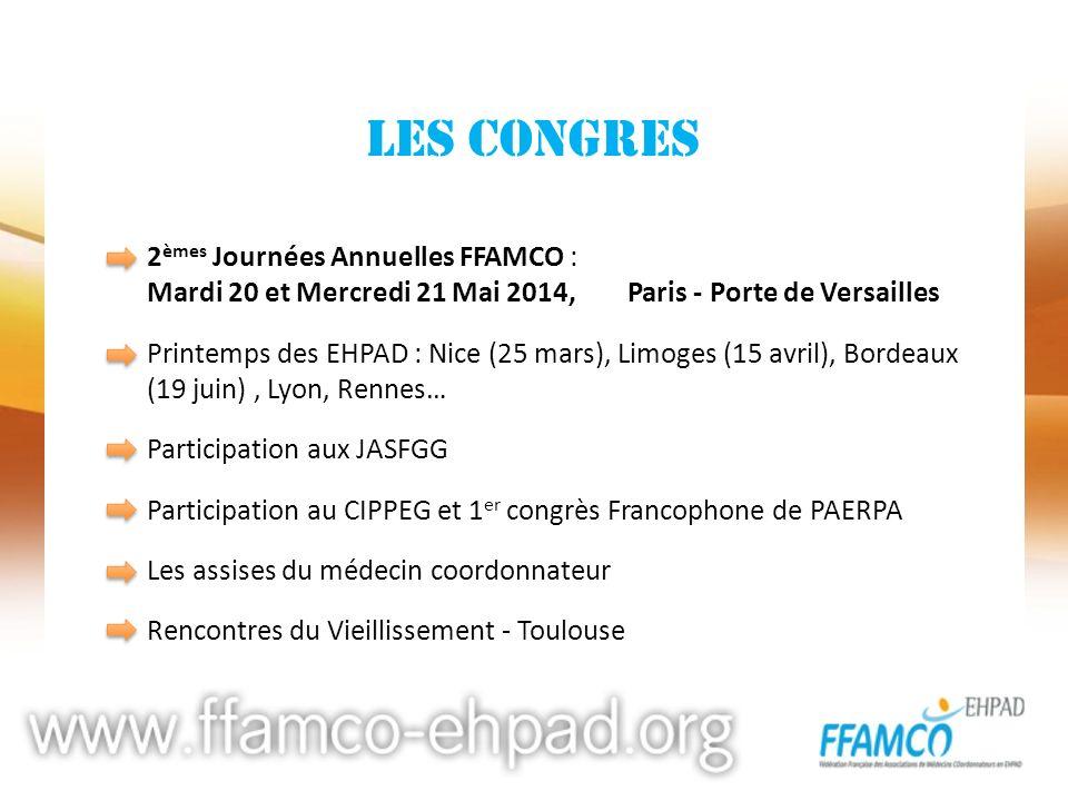 LES CONGRES 2èmes Journées Annuelles FFAMCO :