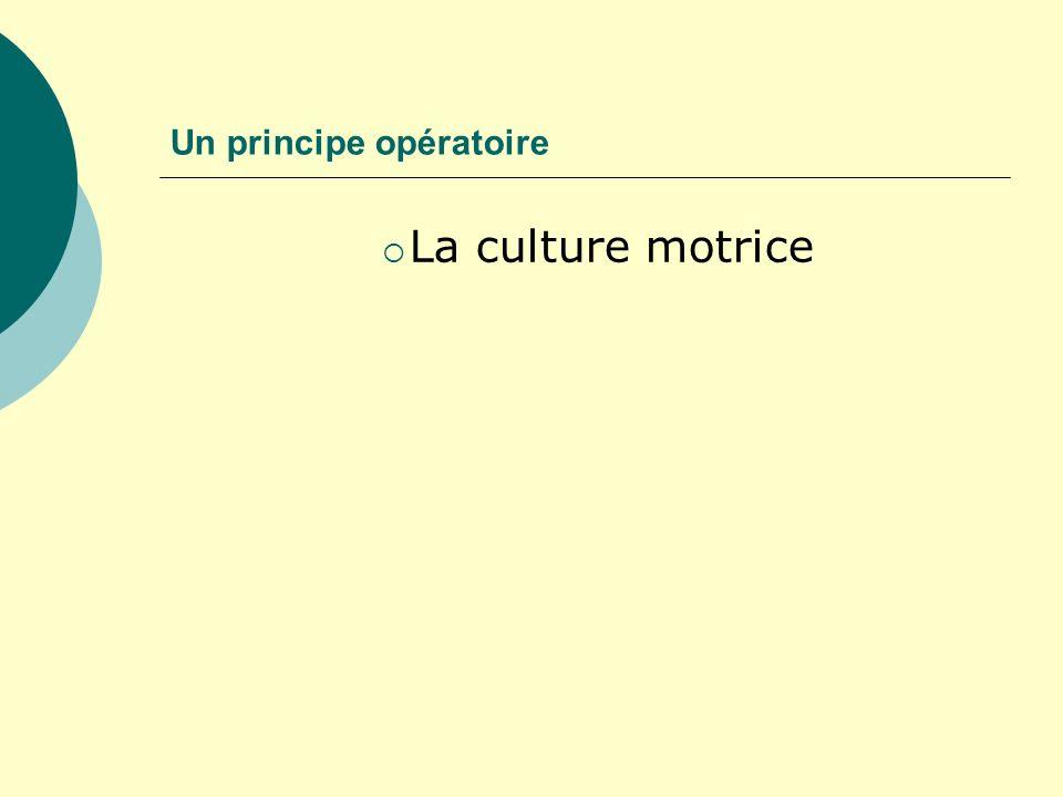 Un principe opératoire
