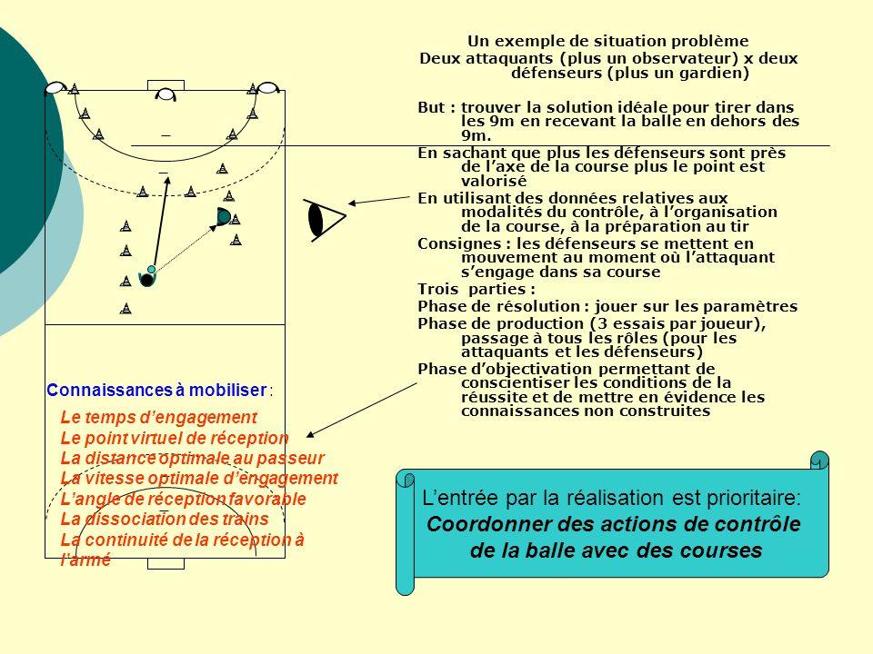 Coordonner des actions de contrôle de la balle avec des courses