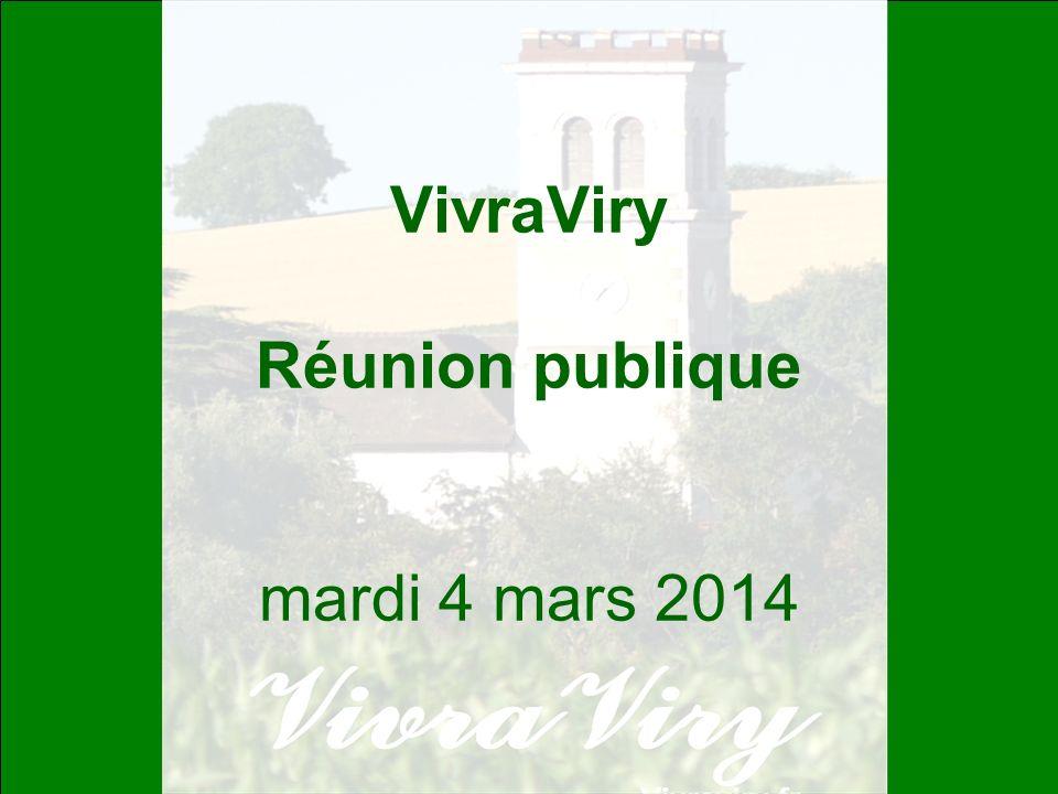 VivraViry Réunion publique mardi 4 mars 2014