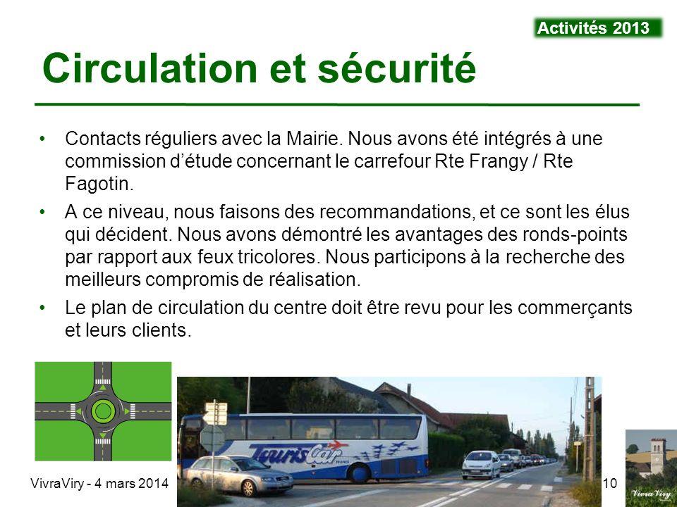 Circulation et sécurité