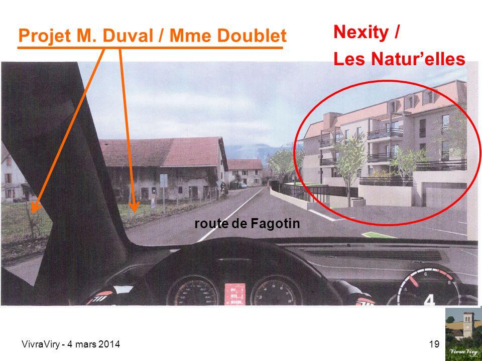 Projet M. Duval / Mme Doublet