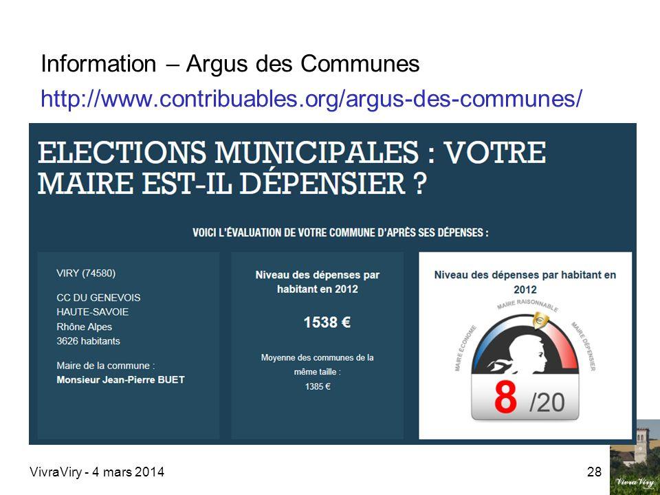 Information – Argus des Communes