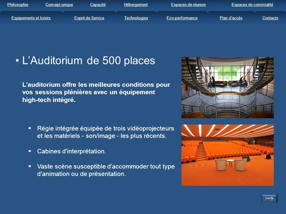L'Auditorium de 500 places