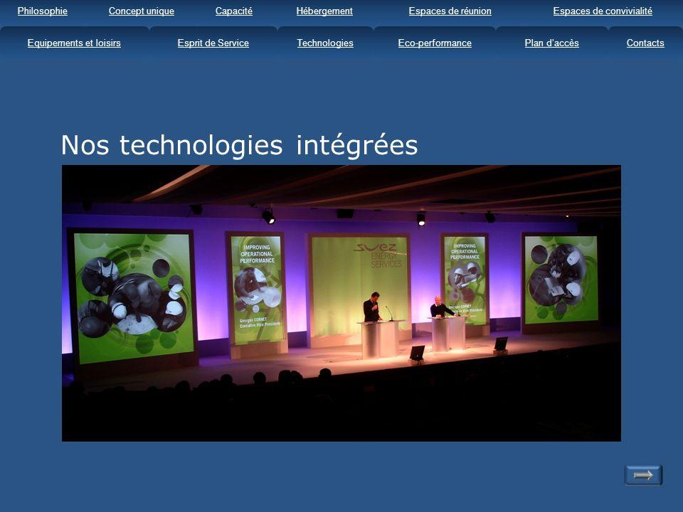 Nos technologies intégrées