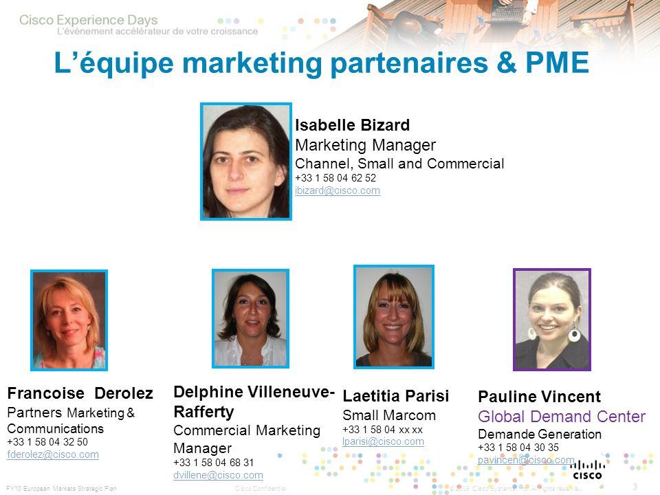 L'équipe marketing partenaires & PME