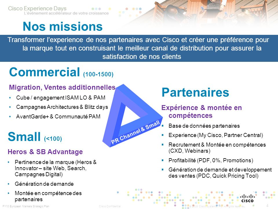 Nos missions Commercial (100-1500) Partenaires Small (<100)