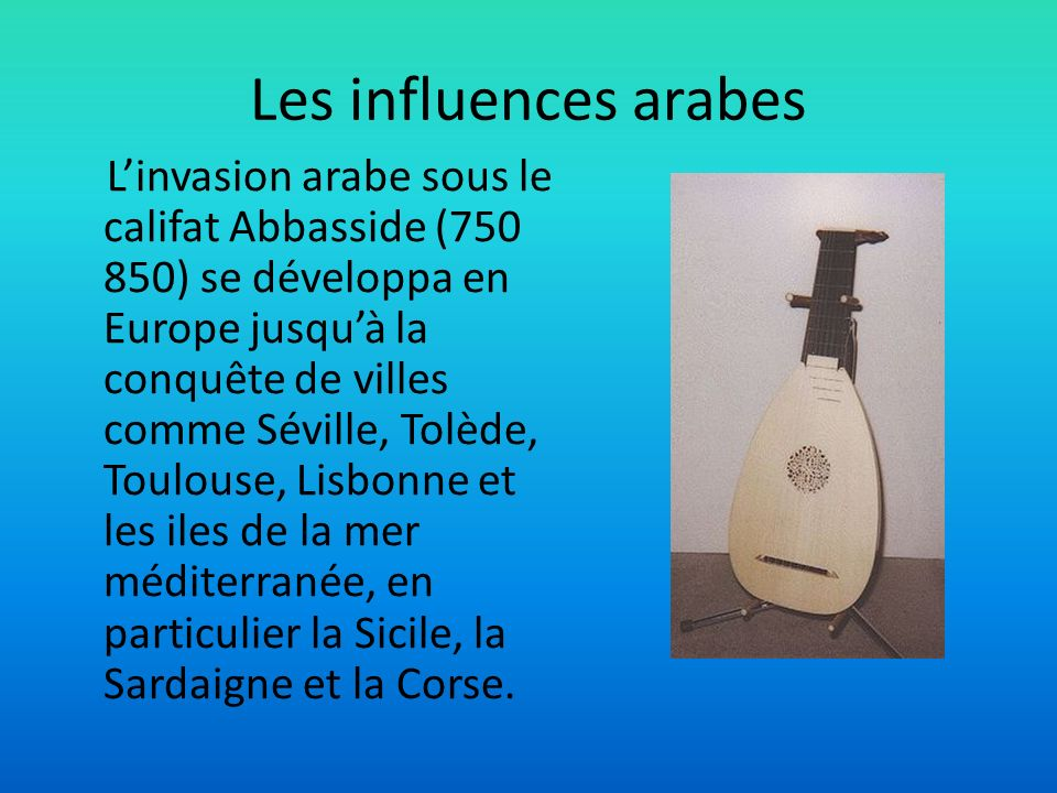 Les influences arabes