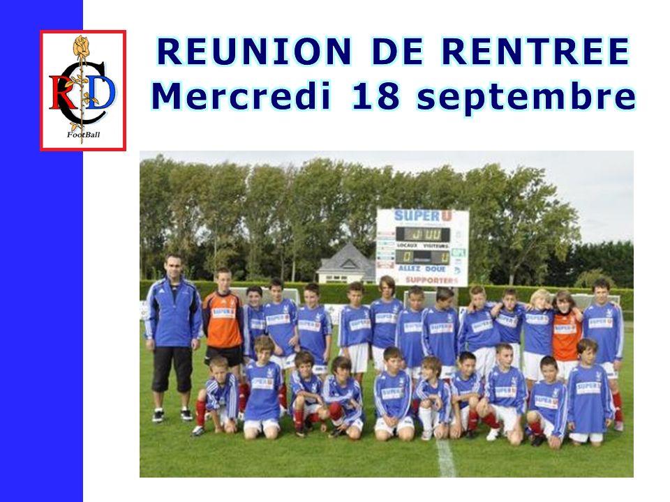 REUNION DE RENTREE Mercredi 18 septembre