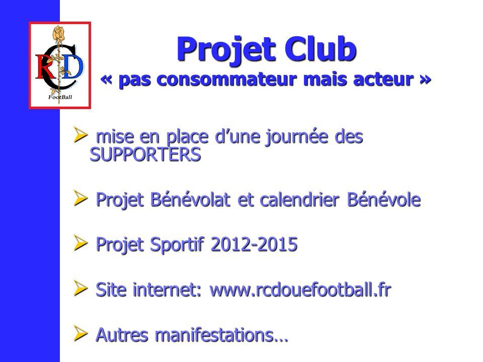 Projet Club « pas consommateur mais acteur »