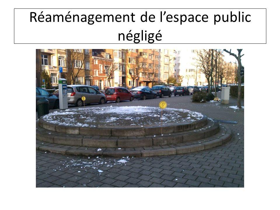 Réaménagement de l'espace public négligé