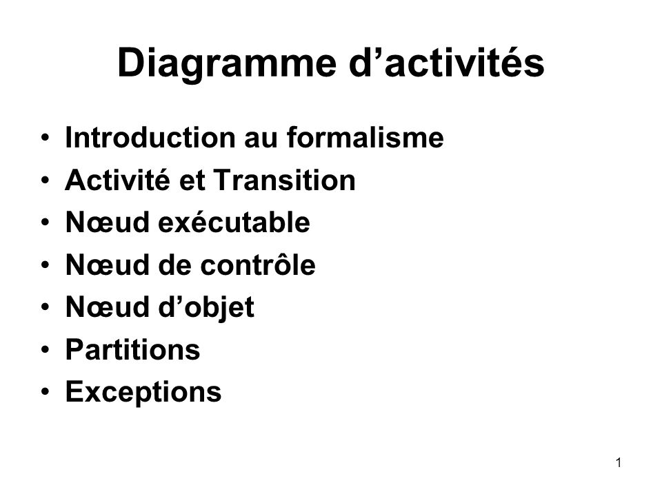 Diagramme d'activités