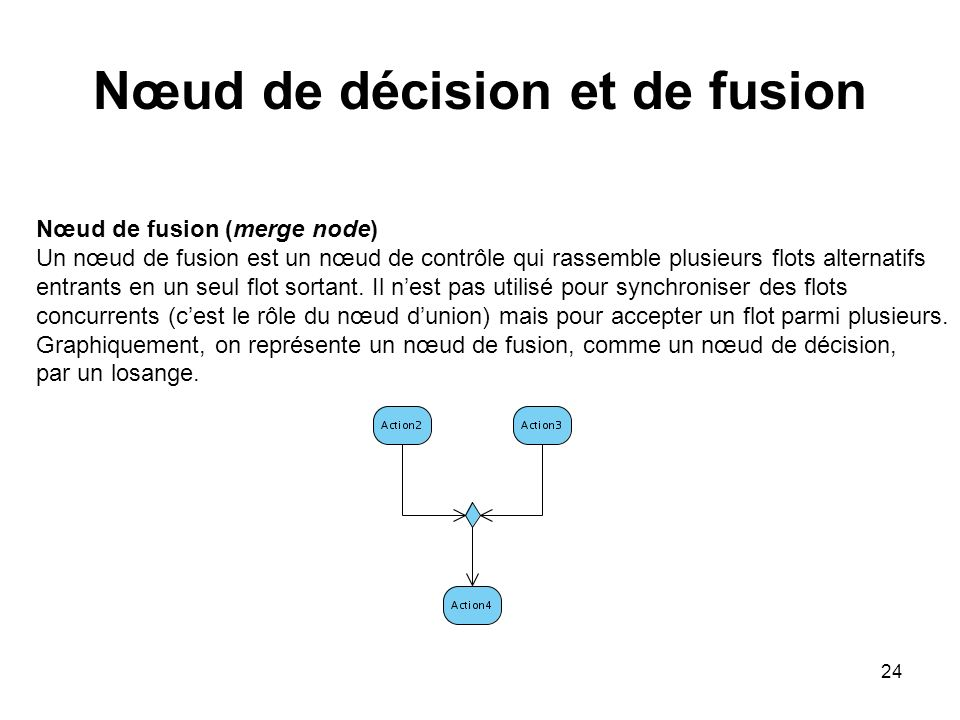 Nœud de décision et de fusion