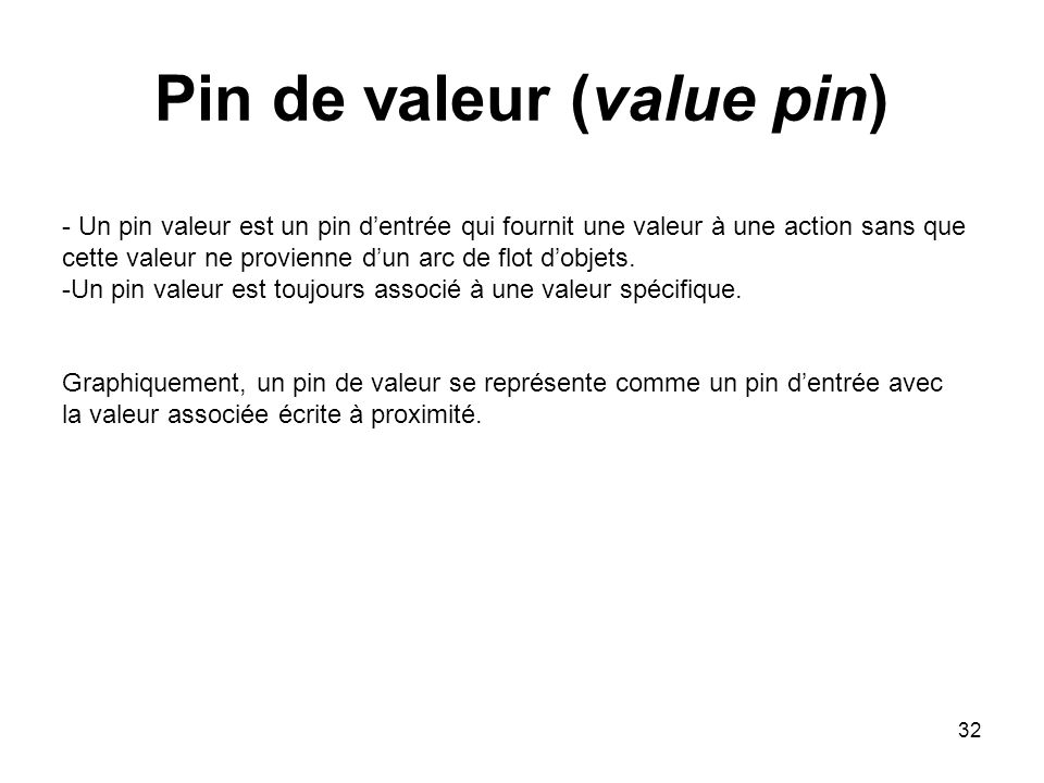 Pin de valeur (value pin)