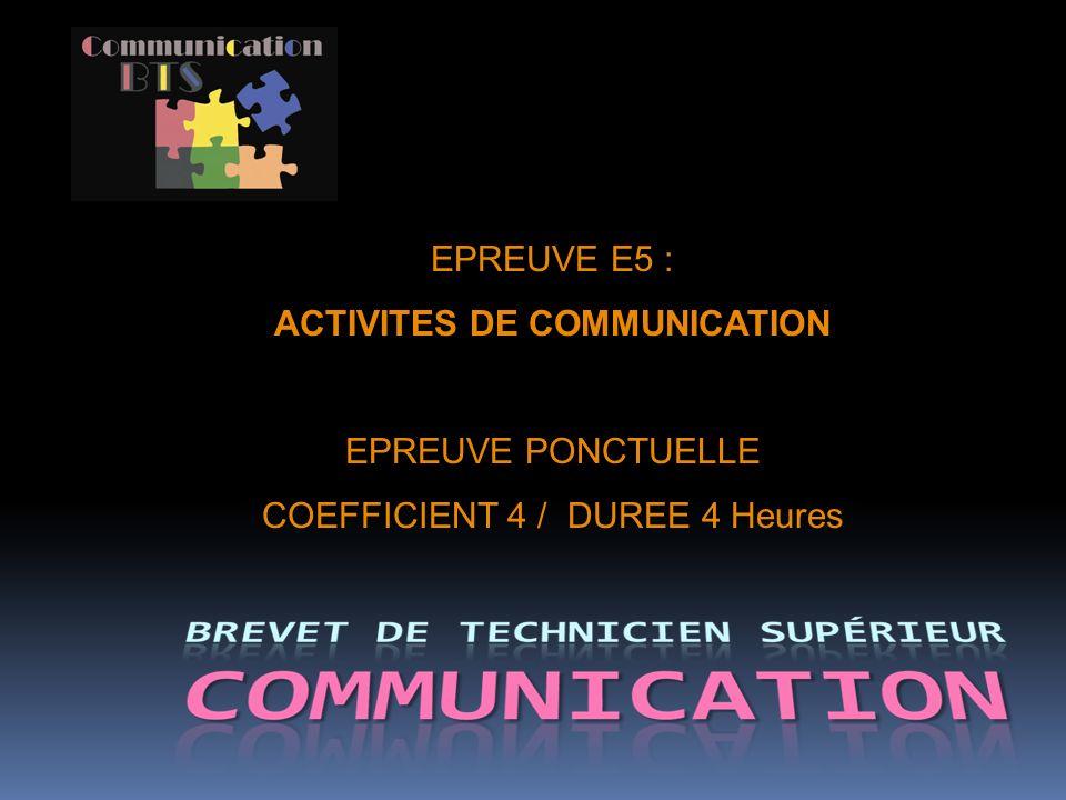 ACTIVITES DE COMMUNICATION