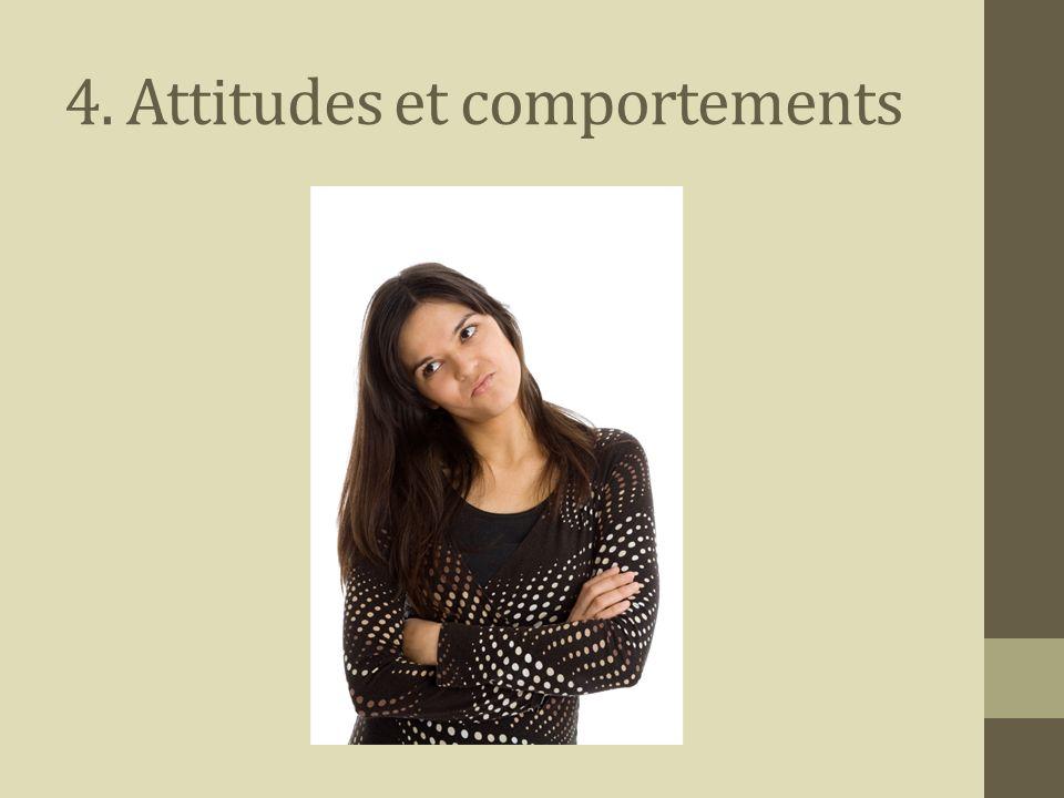 4. Attitudes et comportements