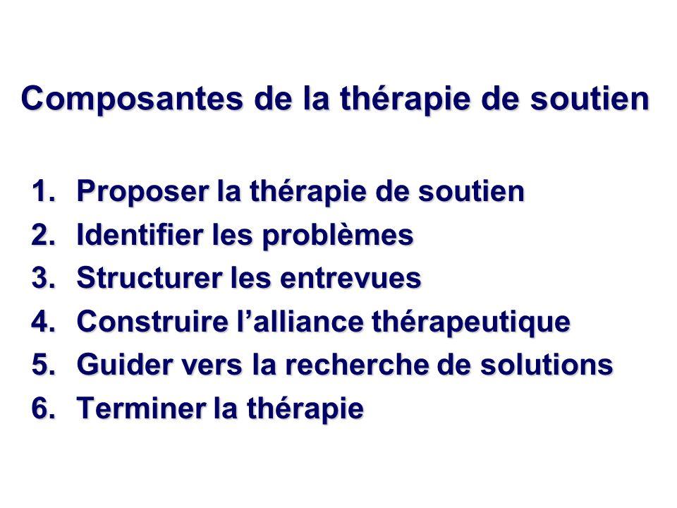 Composantes de la thérapie de soutien