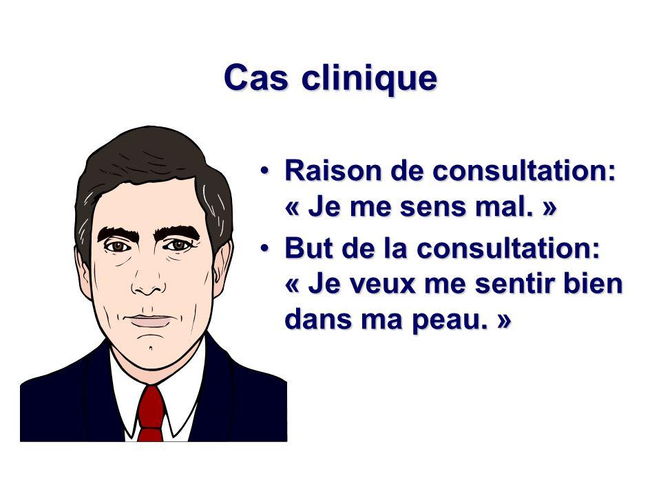 Cas clinique Raison de consultation: « Je me sens mal. »