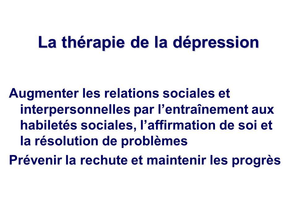 La thérapie de la dépression