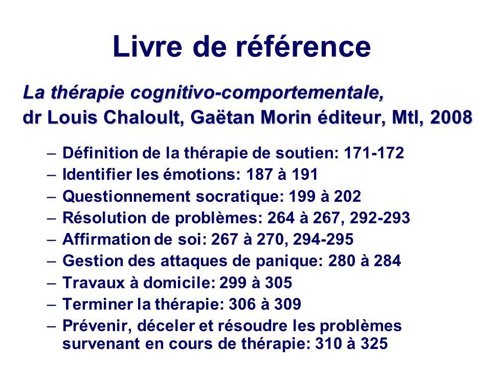 Livre de référence La thérapie cognitivo-comportementale,