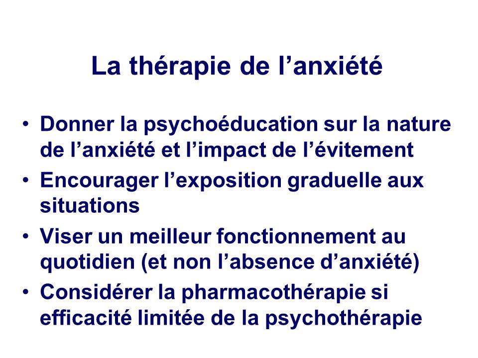 La thérapie de l'anxiété