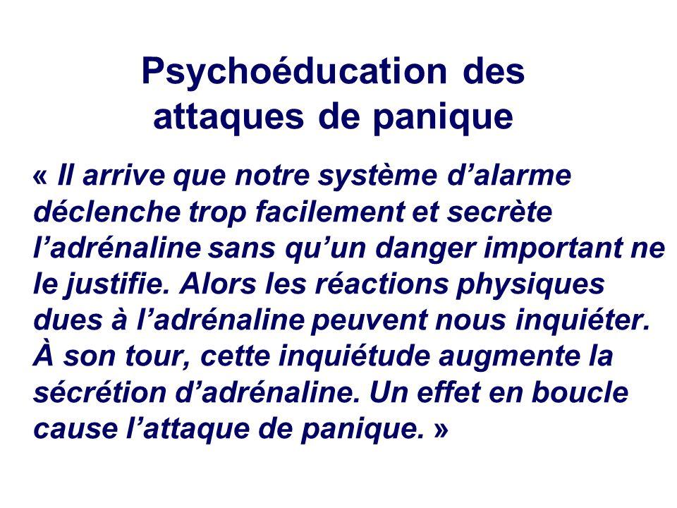 Psychoéducation des attaques de panique