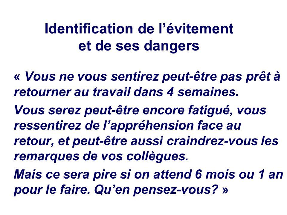 Identification de l'évitement et de ses dangers