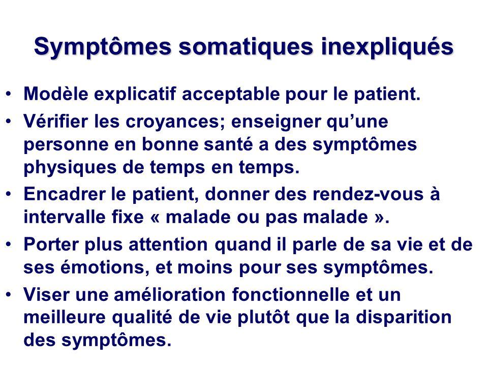Symptômes somatiques inexpliqués