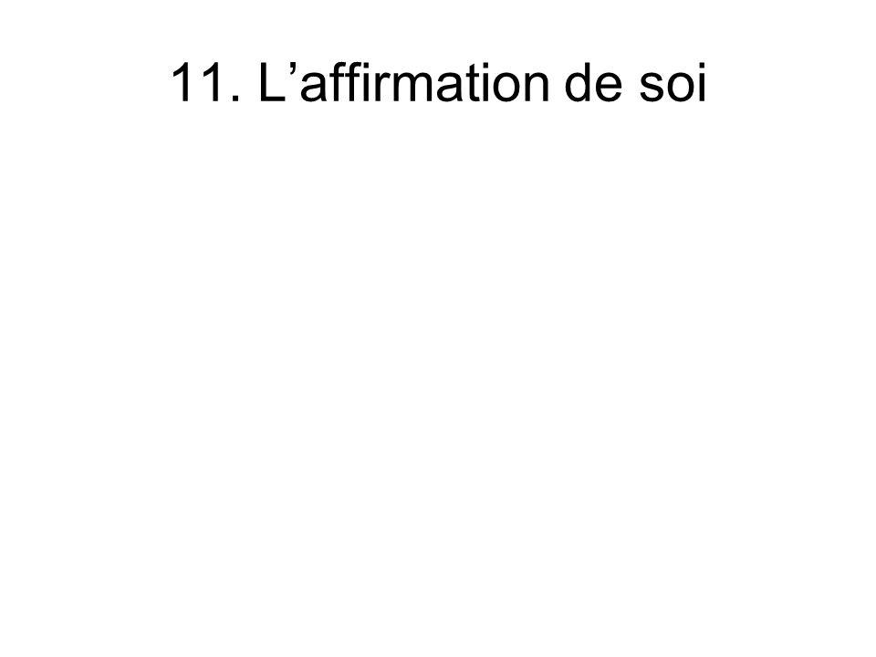 11. L'affirmation de soi