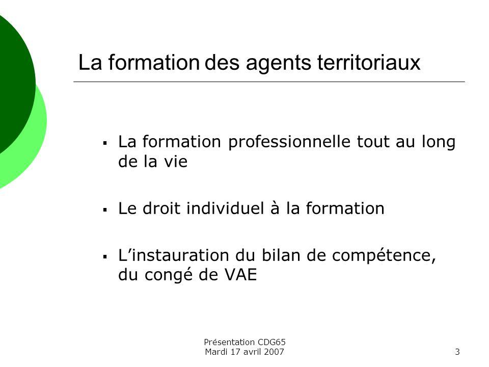 La formation des agents territoriaux