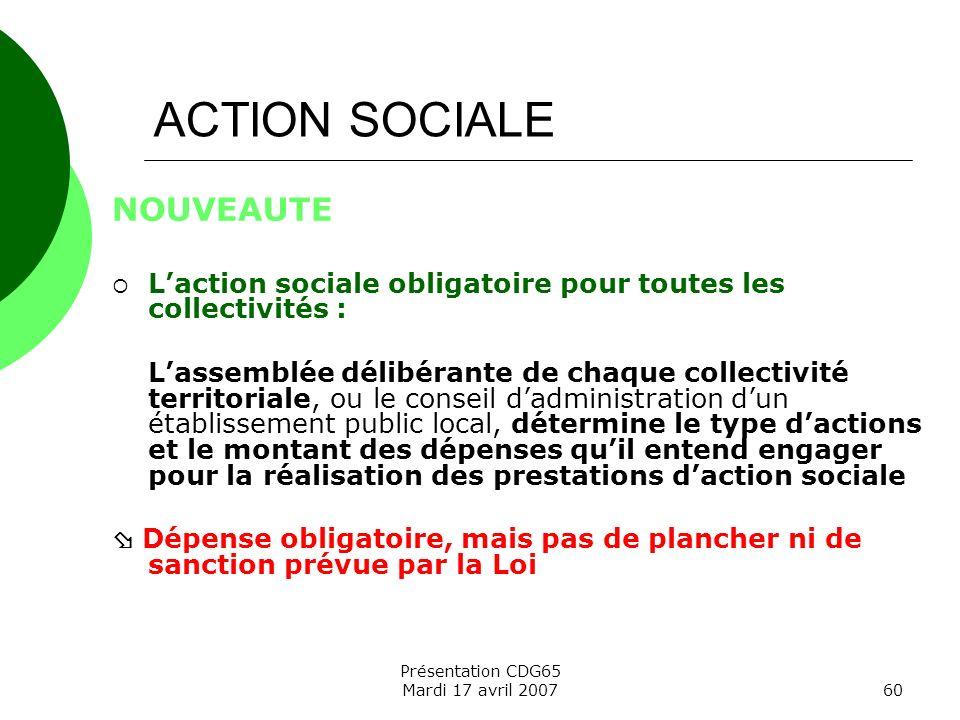 ACTION SOCIALE NOUVEAUTE