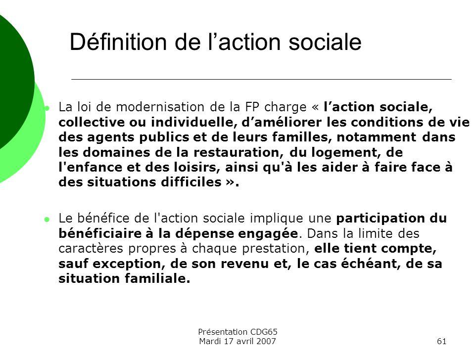 Définition de l'action sociale