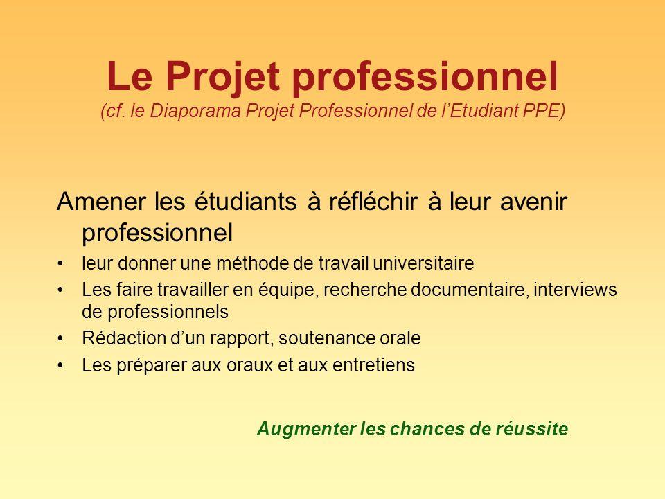 Le Projet professionnel (cf