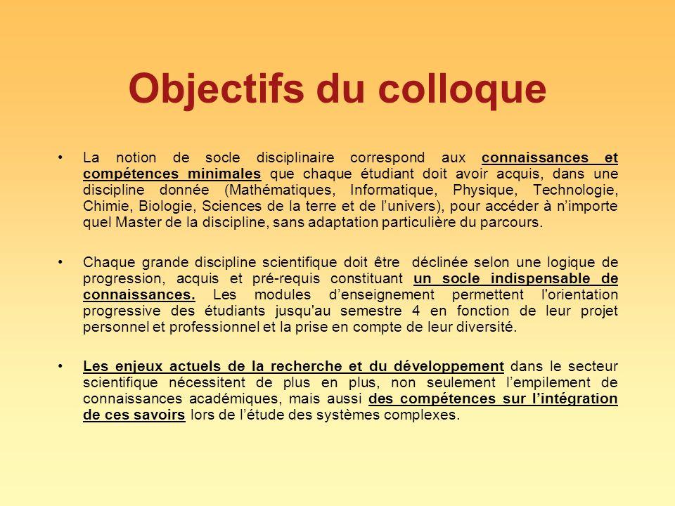 Objectifs du colloque