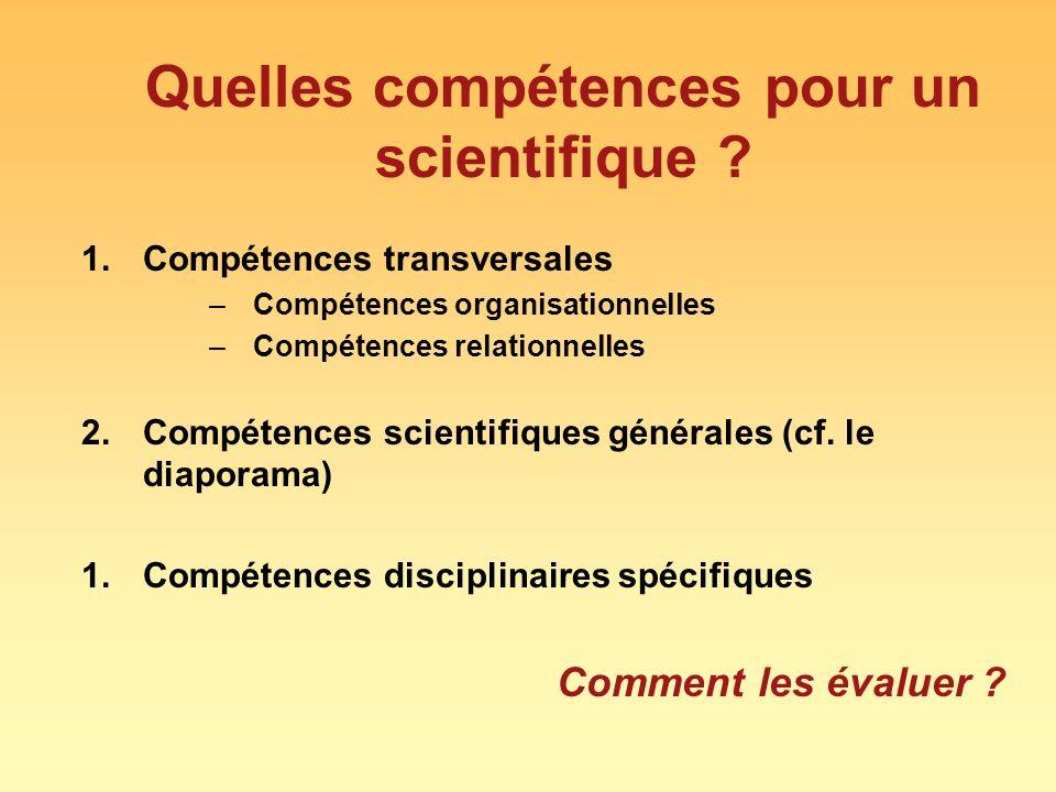 Quelles compétences pour un scientifique