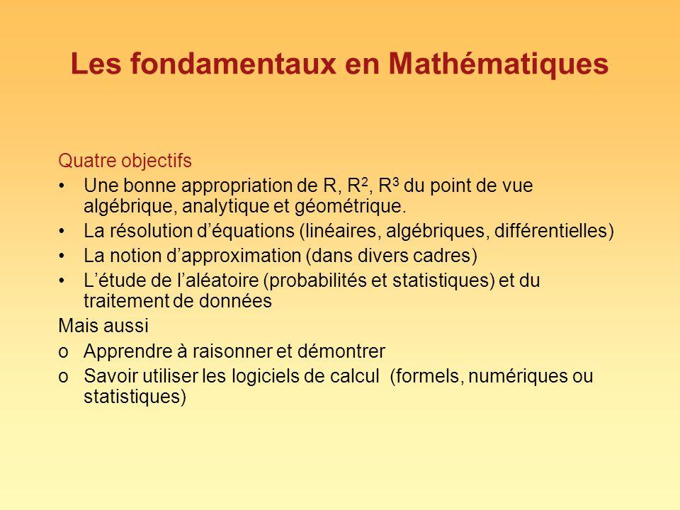 Les fondamentaux en Mathématiques