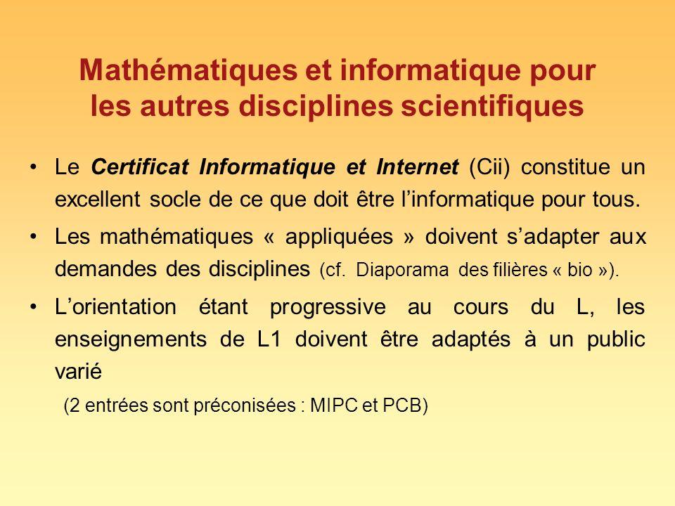 Mathématiques et informatique pour les autres disciplines scientifiques