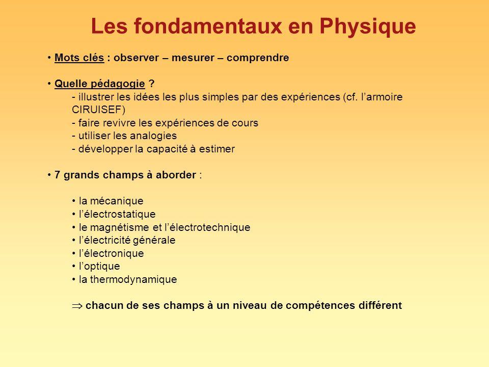Les fondamentaux en Physique