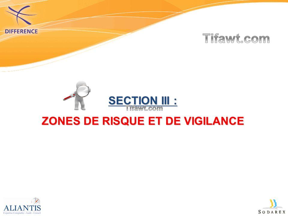 ZONES DE RISQUE ET DE VIGILANCE
