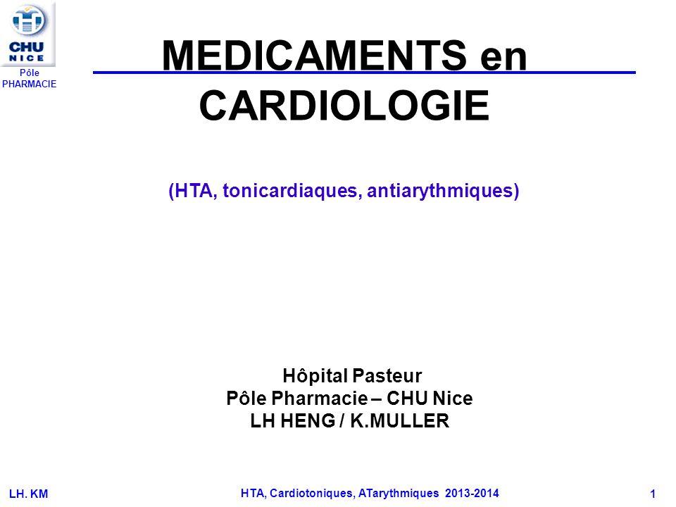 MEDICAMENTS en CARDIOLOGIE