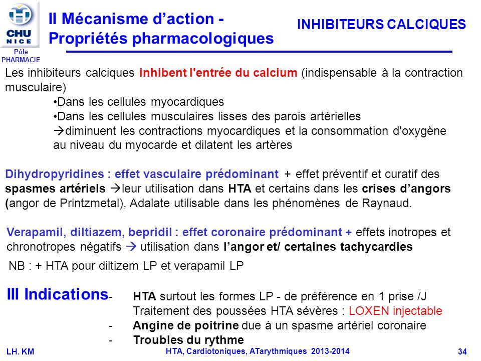 HTA, Cardiotoniques, ATarythmiques 2013-2014