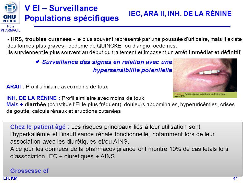 V EI – Surveillance Populations spécifiques