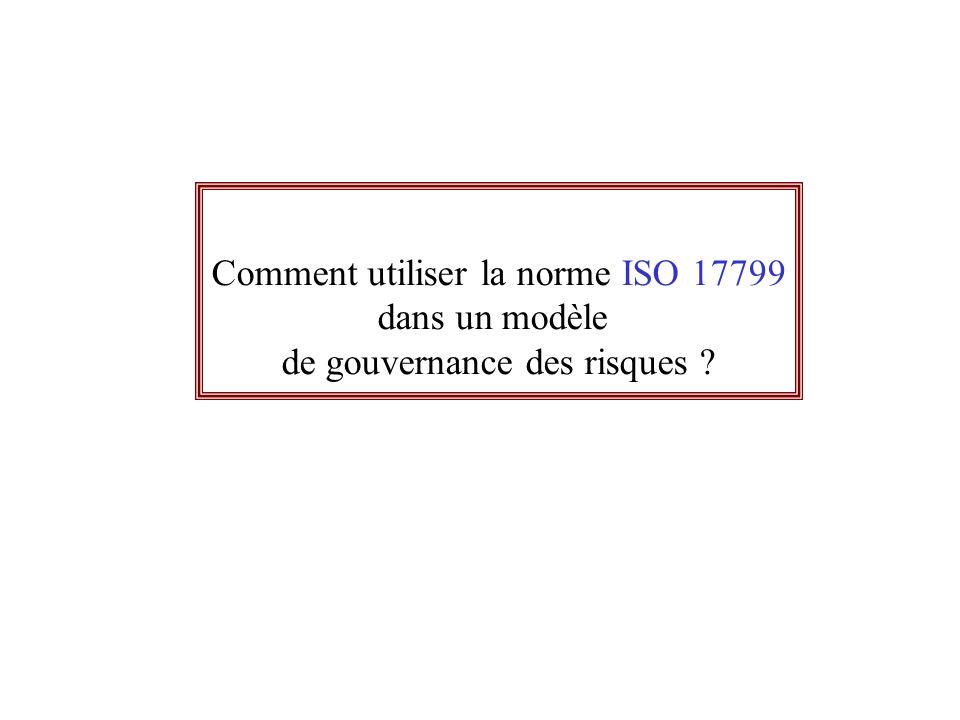 Comment utiliser la norme ISO 17799 dans un modèle